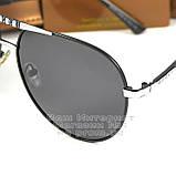 Мужские солнцезащитные очки Gucci Polarized Авиаторы с поляризацией для водителей Поляризационные Гуччи копия, фото 2
