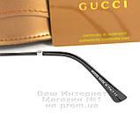 Мужские солнцезащитные очки Gucci Polarized Авиаторы с поляризацией для водителей Поляризационные Гуччи копия, фото 5
