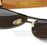 Мужские солнцезащитные очки Gucci Polarized Авиаторы с поляризацией для водителей Поляризационные Гуччи копия, фото 4