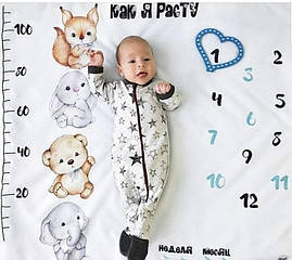 Фото фон детский (пеленка) + указатель