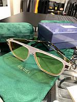 Очки Gucci белая оправа желтые линзы|Сонцезащитные очки Гуччи в желтой оправе мужские женские