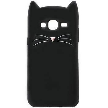 Силиконовая накладка 3D Cat для Samsung Galaxy J2 (2016)