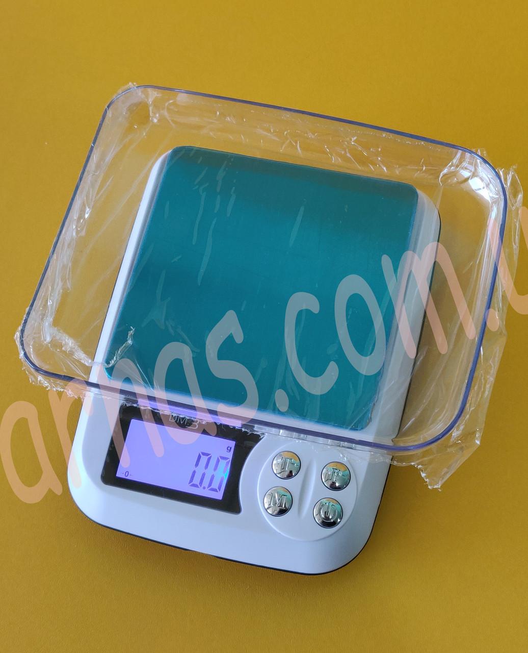 Весы цифровые 0.1-3кг с чашей DM.3