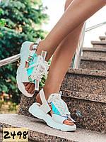 Женские босоножки сандалии спортивные белые 40 стелька 25 см