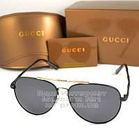 Женские солнцезащитные очки Gucci Модные 2020 Брендовые Авиаторы с поляризацией Polarized Гуччи реплика