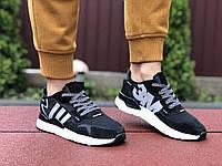 Кроссовки женские Adidas Nite Jogger Boost 3M, черно белые, фото 1