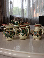 Молочник глиняний ручної роботи (Косівський розпис)