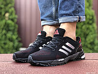 Мужские кроссовки Marathon TR, летние спортивные в стиле Маратон черно красные