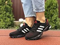 Кросівки жіночі Adidas Marathon, чорні з червоним