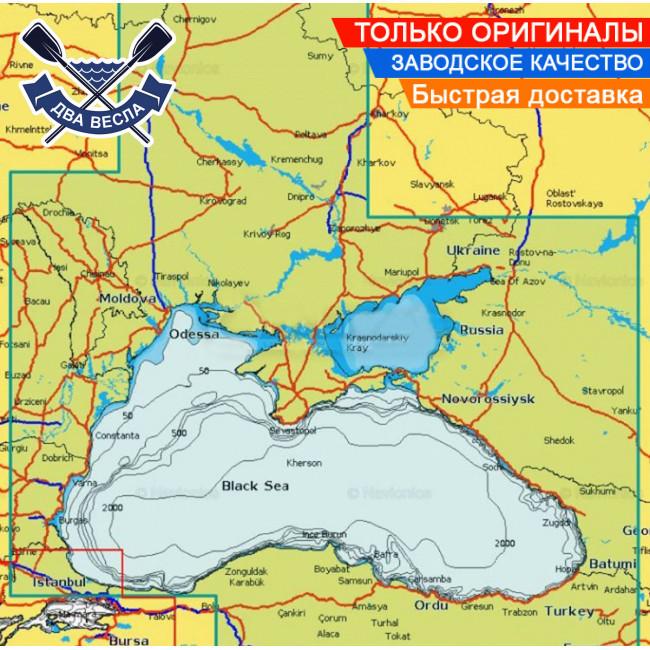Карта для эхолотов NAVIONICS Platinum на SD карте, регион охвата Днепр, Азовское и Черное море