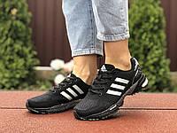 Кроссовки женские Adidas Marathon, черно белые, фото 1