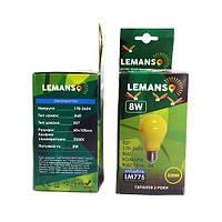 LED лампа lemanso от комаров А60, 6w, 2200K, LM774