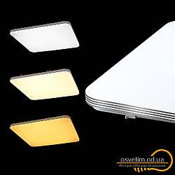 Світлодіодний квадратний стельовий смарт светильни 90 Ват Biom&SMART SML-S01-90 3000K-6000K 90ВТ З Д/У BIOM