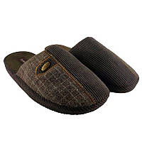 Мужские домашние тапочки, комнатные тапочки Runpole коричневые закрытые