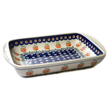 Керамическая форма для выпечки и запекания прямоугольная малая 29,5 х 20,5 с ушками 12 Babes-Pumpkin, фото 2