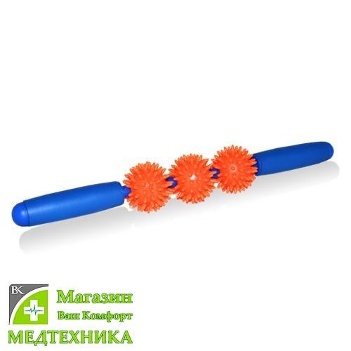 Массажер ручной мячи игольчатые с ручкой M-403 Тривес