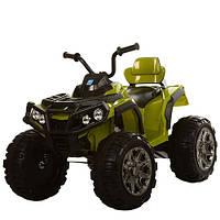 Квадроцикл Bambi M 3156EBLR-10 темно-зеленый для детей от 3 лет