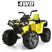 Квадроцикл для детей 3-8 лет Bambi M 3999EBLR-6 желтый