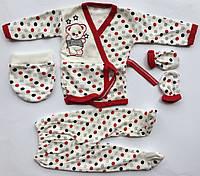 Подарочный набор для новорожденных мишка 4 единицы красный