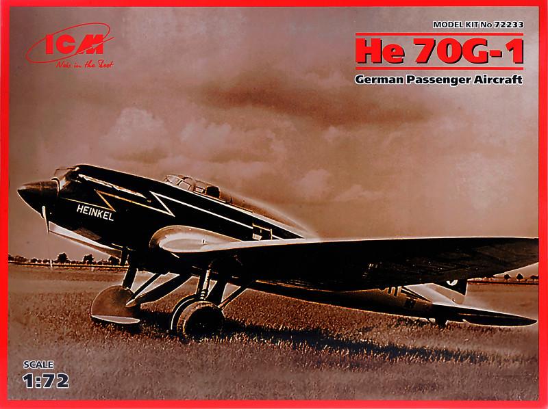Немецкий пассажирский самолет Heinkel He 70G-1. 1/72 ICM 72233