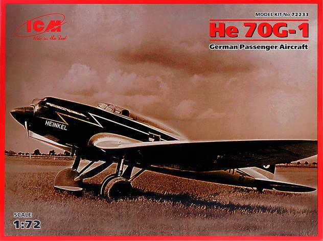 Немецкий пассажирский самолет Heinkel He 70G-1. 1/72 ICM 72233, фото 2