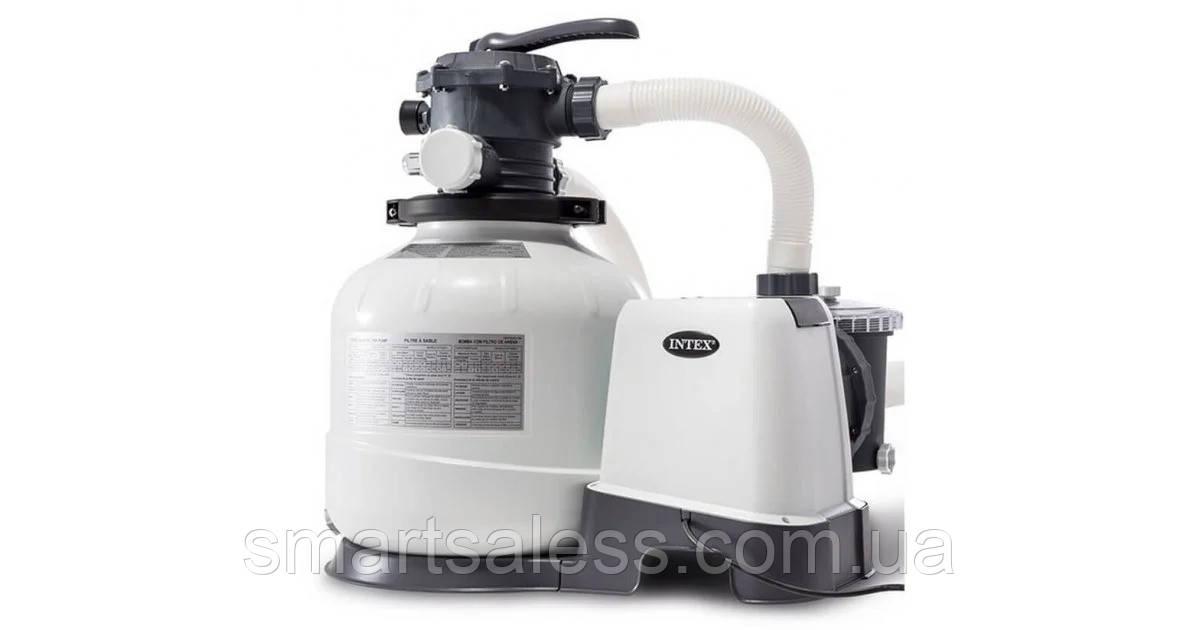 Песочный фильтр насос Intex 26652, мощность 12 000 л\ч, резервуар для песка 55 кг