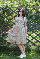Платье штапель принт для беременных 6135-1