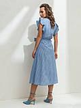 Летнее платье в полоску с рукавом-крылышко, фото 6