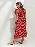 Летнее платье в полоску с рукавом-крылышко, фото 3