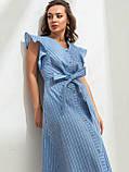 Летнее платье в полоску с рукавом-крылышко, фото 4
