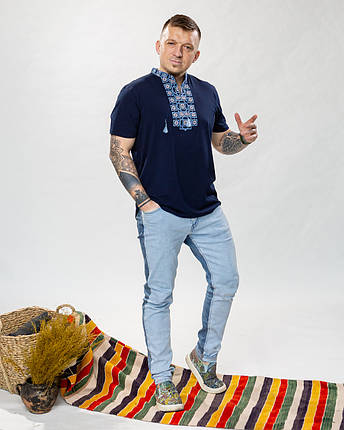 Трикотажные мужские вышиванки, фото 2
