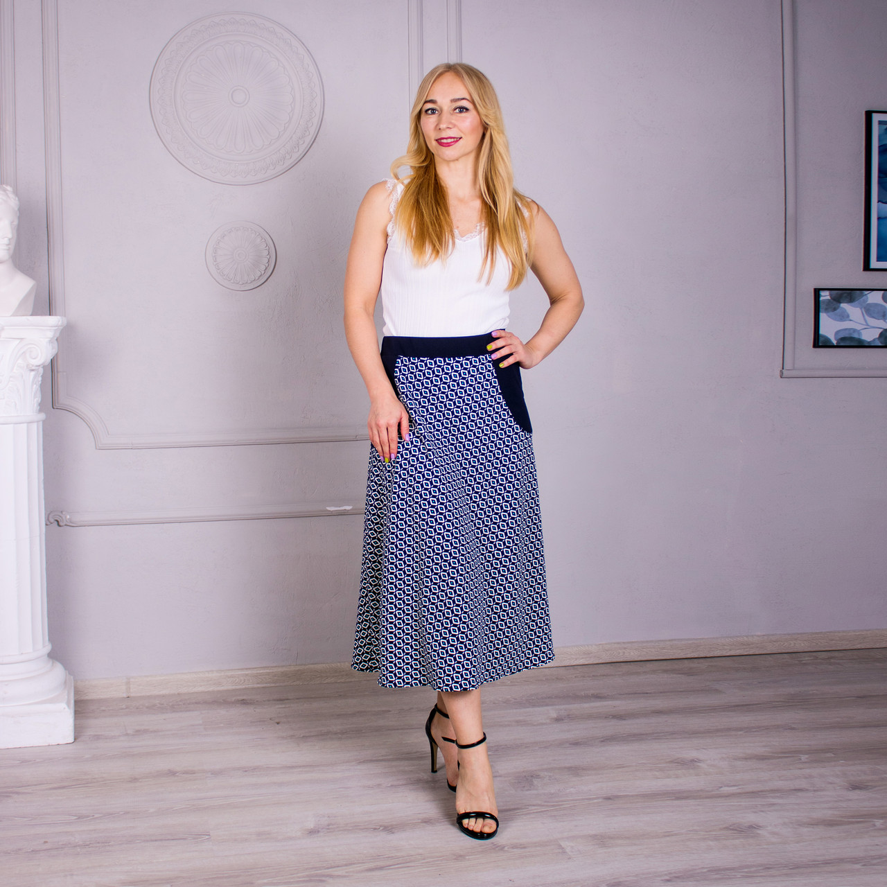 Женская летняя юбка Линда бирюза
