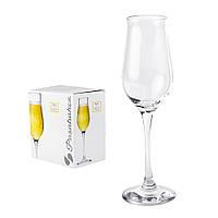 Набор бокалов для шампанского Pasabahce Wavy 6 штук 190мл d5 см h22,5 см стекло (440292)