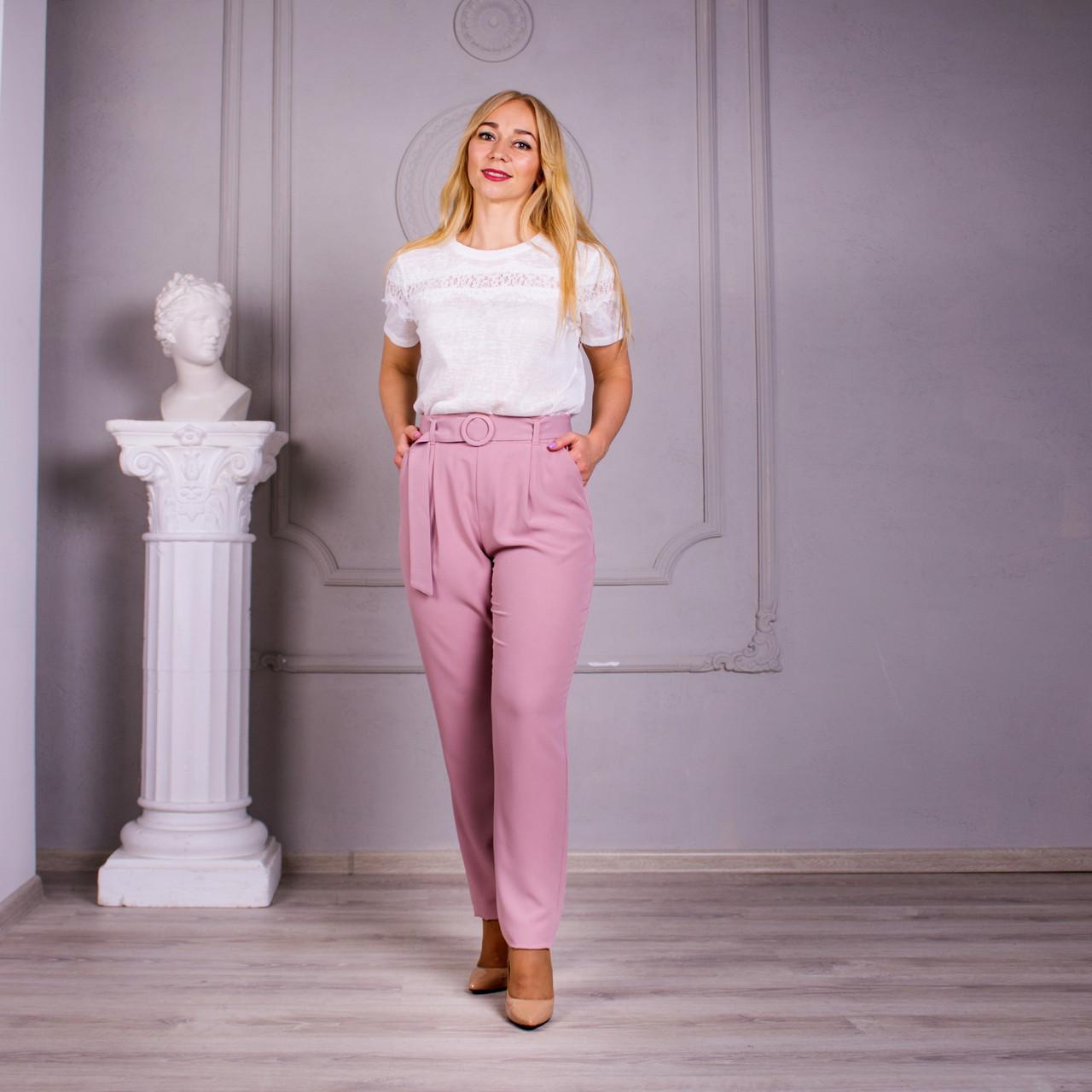 Женские брюки Яна пудра