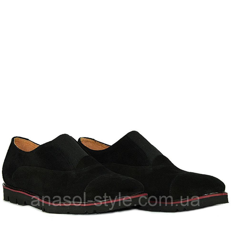 Туфли La Rose 1302 41(27,2 см ) Черная замша