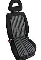 Подушки - накидки EKKOSEAT для автомобильного кресла водителя, ортопедические. Дышащие. Комплект. Серые.