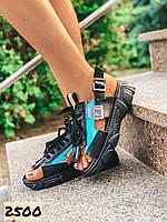 Женские босоножки сандалии черные 36,38,39,40 размер