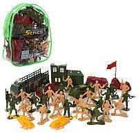 Набор солдатиков Комбат CY4165B военная техника, солдатики, баррикады