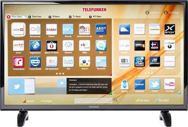 Телевизор Telefunken D32F287A3CW (Full HD / 200Hz / Smart TV / Wi-Fi / DVB-T, DVB-C, DVB-S)