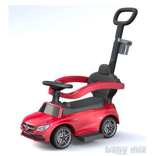 Машинка толокар Babymix Mercedes 2 в 1 с ручкой HZ639 RED