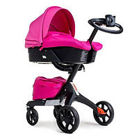 Универсальная коляска 2 в 1 Dsland Xplory V8 (розовый цвет)
