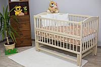 """Дитяче ліжечко """"Антошка 2"""" СЛОНОВА кістка, фото 1"""