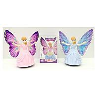 Кукла DL-338 фея, 21 см, с крыльями,музыка, свет, танцует,2 цвета, на батарейке
