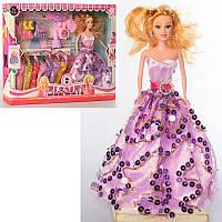 Кукла с нарядом 054-1 27 см, платья, сумочка, обувь, заколочки