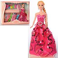 Кукла с нарядом 1035A 28 см, платья, обувь, аксессуары, микс видов