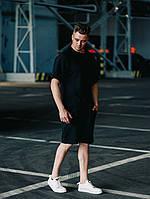 Футболка + шорты | мужской комплект Оверсайз | летний набор | Цвет: Черный