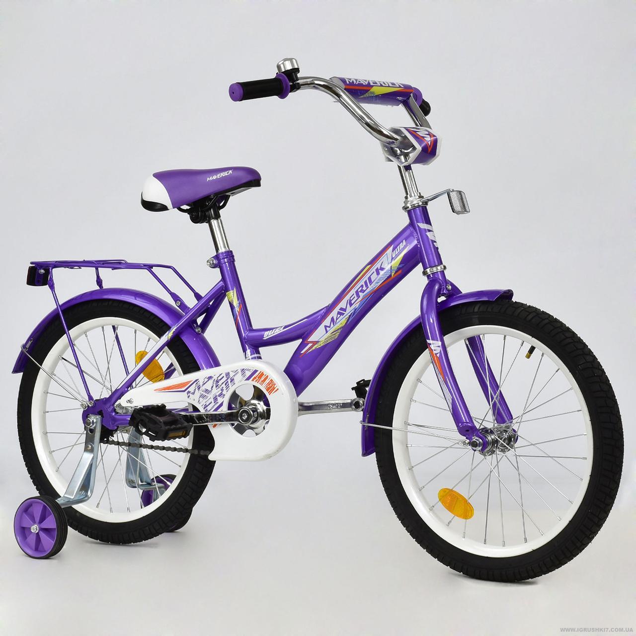"""Велосипед 2-х колёсный R 1803 """"MAVERICK"""" (1) без ручного тормоза, доп. колеса, СОБРАННЫЙ НА 75% , в коробке"""