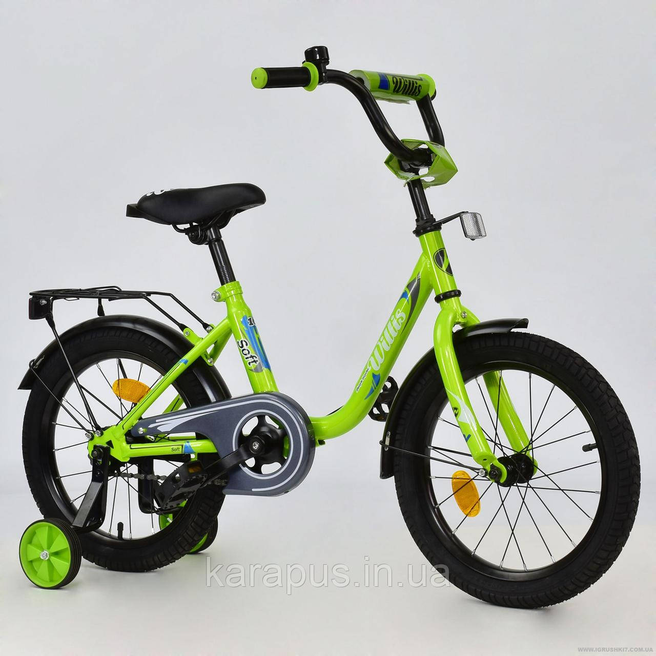 """Велосипед 2-х колёсный R 1615 """"WILLIS"""" (1) без ручного тормоза, доп. колеса, СОБРАННЫЙ НА 75% , в коробке,"""