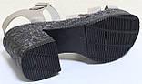 Босоножки кожаные женские на платформе и каблуке от производителя модель КЛ214, фото 5