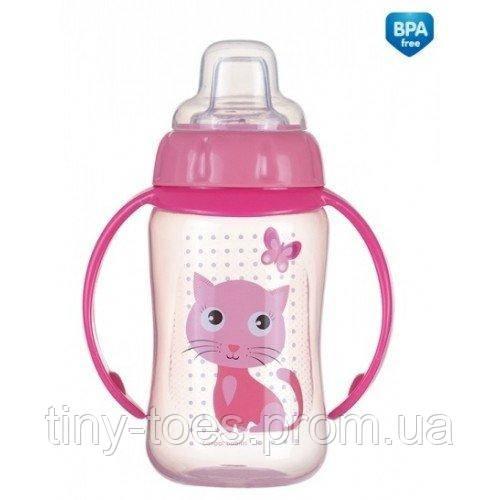 """Чашка тренувальна Canpol Babies Котик з м""""яким силіконовим носиком і ручками 320мл"""